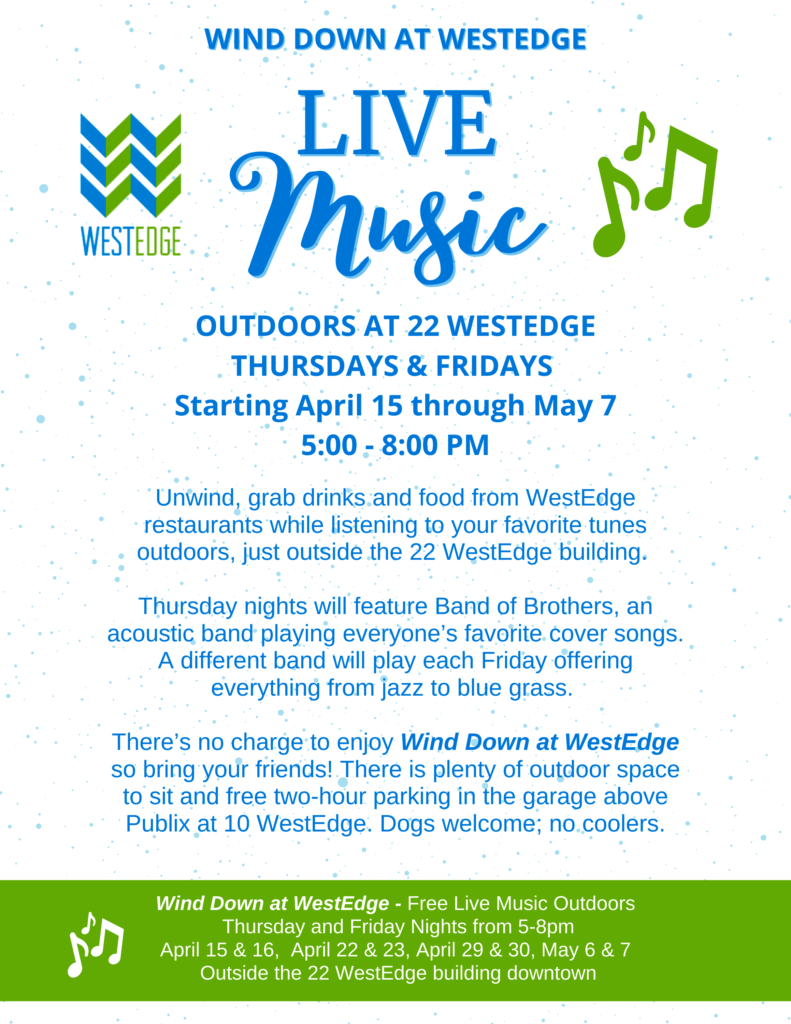 WestEdge Live Music flyer